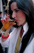 Beer Photos - Beautiful Beer Drinker by Carl Purcell