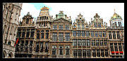 The Grand Place Posters - Beautiful Belgian Buildings - Digital Art Poster by Carol Groenen