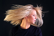 Long Blonde Hair Prints - Beautiful blonde hair Print by Richard Thomas