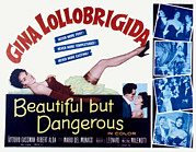 1956 Movies Prints - Beautiful But Dangerous, Aka La Donna Print by Everett