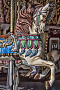 Pony Rides Framed Prints - Beautiful carousel horse Framed Print by Garry Gay