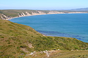 Headlands Photos - Beautiful Coastline of Point Reyes California . 7D16050 by Wingsdomain Art and Photography