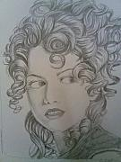 Curls Drawings Posters - Beautiful Curls Poster by Nischitha Shenoy