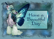 Hairless Digital Art Posters - Beautiful Day - Chinese Crested Fairy Poster by Renae Frankz
