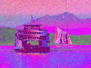Mountain Digital Art Prints - Beautiful Day For A Sail Print by Tim Allen