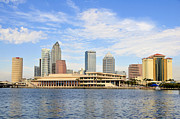 Tampa Framed Prints - Beautiful Day Tampa Bay Framed Print by David Lee Thompson