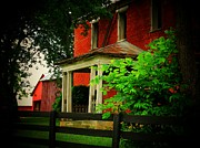 Abandoned Houses Prints - Beautiful Deserted Farm House Print by Joyce  Kimble Smith