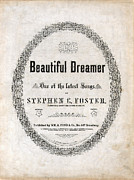 Sheet Framed Prints - Beautiful Dreamer, By Stephen Foster Framed Print by Everett