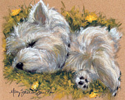 Westies Prints - Beautiful Dreamer Print by Mary Sparrow Smith