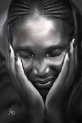 African-american Digital Art Prints - Beautiful Ebony Print by Stacy Moore