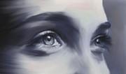 Female Digital Art Posters - Beautiful Eyes Poster by David Ridley