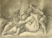 Pencil On Canvas Framed Prints - Beautiful Females Fine Art Prints Framed Print by Ezartesa Art