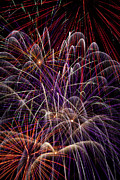 Pyrotechnics Metal Prints - Beautiful Fireworks Metal Print by Garry Gay