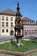 Rottweil Framed Prints - Beautiful fountain Rottweil Germany Framed Print by Matthias Hauser
