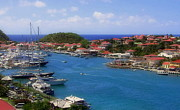 Red Roofs Posters - Beautiful Gustavia Poster by Karen Wiles