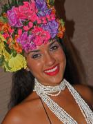 Lei Photos - Beautiful Hawaiian Girl  by Elizabeth Hoskinson