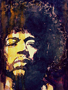 Jimi Hendrix Paintings - Beautiful Haze by Paul Lovering