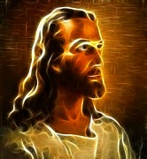 Christ Face Digital Art - Beautiful Jesus Portrait by Pamela Johnson