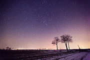 Winter Night Art - Beautiful Landscape by Lv Photography