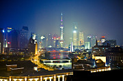 The Bund Prints - Beautiful Night Print by Copyright by RanRan