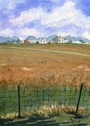 Farm Fields Painting Originals - Beautiful Ohio by Marsha Elliott