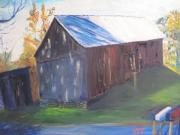 Old Barn Paintings - Beautiful Old Barn by Gloria Condon