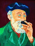 Fathers Paintings - Beautiful Old Blue Eyes by Carole Spandau