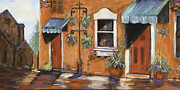 Ft Collins Painting Prints - Beautiful Old Town Alley Print by Pati Pelz