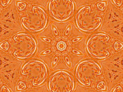 Jordan Digital Art Prints - Beautiful Orange Print by Jeannie Atwater Jordan Allen