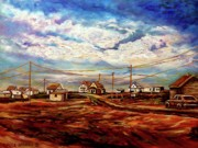 Picturesque Painting Prints - Beautiful Prince Edward Island Maritime Canada Print by Carole Spandau