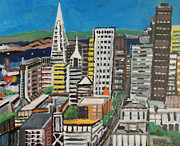 Alcatraz Paintings - Beautiful San Francisco by Kyle McGuigan