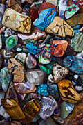 Turquoise Stones Art - Beautiful Stones by Garry Gay