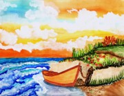 Pic Painting Posters - Beautiful summer day Poster by Connie Valasco