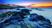 Cornwall Photos - Beautiful sunset by the ocean by Jaroslaw Grudzinski