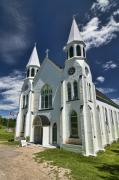 Sven Brogren Prints - Beautiful White church on a sunny day Print by Sven Brogren