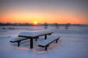 Snowy Evening Prints - Beautiful winter sunset Print by Jaroslaw Grudzinski