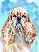 Beauty - American Cocker Spaniel Print by Lyn Cook
