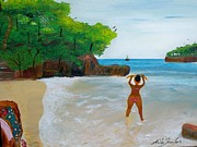 Nicole Jean-louis Paintings - Beauty And The Beach by Nicole Jean-Louis