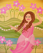 Dancing Girl Paintings - Beauty and the Beach by Samantha Shirley