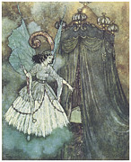 Fairytale Painting Posters - Beauty and the Beast Poster by Edmund Dulac