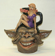 Clay Sculptures - Beauty and the Beast by Lauren  Marems