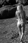 Blonde Girl Prints - Beauty and the Rocks Print by Brad Scott