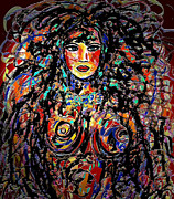 Silver Turquoise Art - Beauty Goddess by Natalie Holland