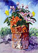 Barrel Painting Originals - Beauty Grows Everywhere by John Lautermilch