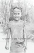 Haiti Drawings - Beauty in Haiti by Deb Hoeffner