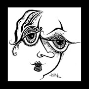 Ink Drawing Prints - Beauty in Imperfection Print by Tanielle Childers
