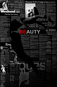 Romantic Art Digital Art Posters - Beauty Poster by Irina  March