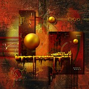 Gold Abstract Canvas Prints - Beauty of an illusion Print by Franziskus Pfleghart