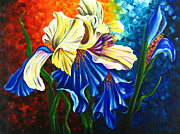 Gerbera Paintings - Beauty of Blossom by Uma Devi
