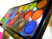 Tray Paintings - Beauty of Colour by Chris Butler